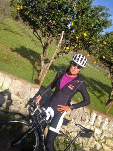 Here already riding in December on the roads on Mallorca