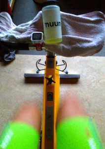 And here some serious indoor biking training :-)