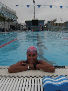 A swim in the local pool - Santa Monica Swim Center