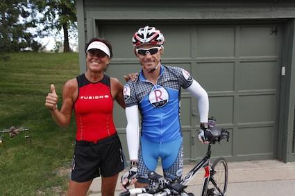 Craig for the bike, Kaisa for the run :-)