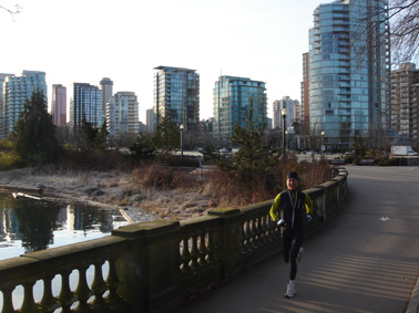 clear morning, vancouver, good legs