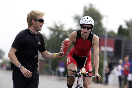 Ann, one of the best danish women in the long distances, with her fantastic support in her training and her life